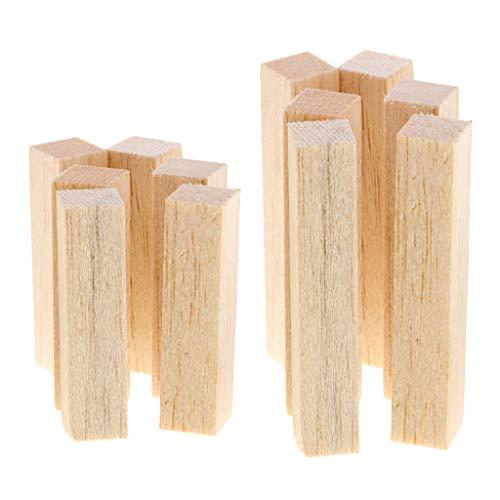 Lezed Bloques de Madera para Tallar el Bloque de Madera Tallado Bloques de Madera Natural para Tallar Listones de Madera sin Acabado 6 x (10 x 2,5 x 2,5 cm) 6 x (15 x 2,5 x 2,5 cm)