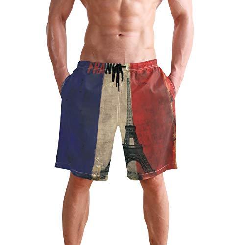 LORONA Frankrijk Parijs Eiffel Handdoek Board Shorts Snelle Droge Zwemmen Trunks Strand Zwemkleding