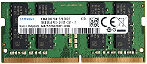 Samsung 16GB DDR4 PC4-19200, 2400MHz, 260 PIN SODIMM, CL...
