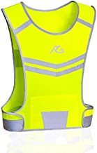 GoxRunx Reflective Running Vest Gear Ultralight & Comfortable Cycling Motorcycle Reflective Vest-Large Zippered Inside Pocket & Adjustable Waist- High Visibility Night Running Safety Vest (Yellow, M)