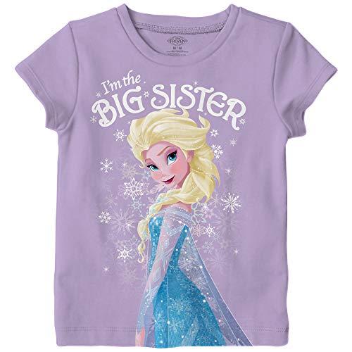 Disney Frozen Elsa I'm The Big Sister Kids T-Shirt (4, Big Sister)