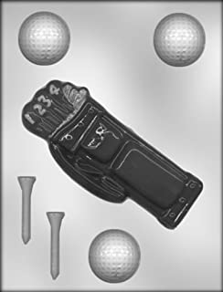 CK Products Golf Bag, Golf Ball, Golf Tee Chocolate Mold