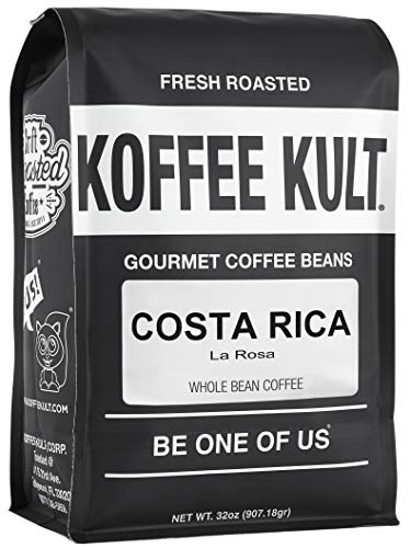 Costa Rica Coffee - Naranjo La Rosa - Medium Roast Coffee Beans Koffee Kult (Whole Bean, 32oz)
