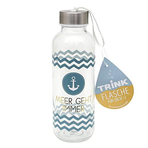 Dekohelden24 Collezione Maritim, prodotti e design selezionabili tramite menu a tendina., Il mare va sempre, Trinkflasche