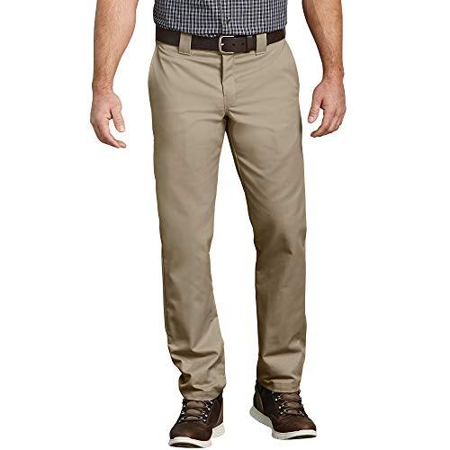 Dickies Men's Slim Taper Stretch Twill Work Pant, Desert Sand, covid 19 (Coat Top Pants coronavirus)