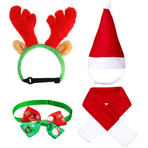 4 Piezas Sombrero Bufanda de Santa Navidad de Gato Perro Lindo...