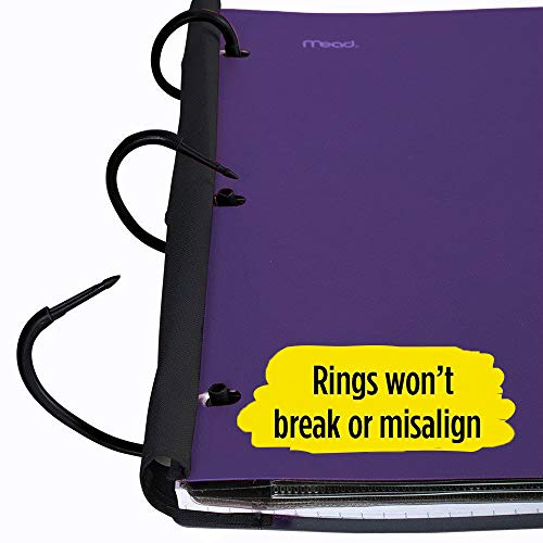 Five Star Flex Hybrid NoteBinder, 1-1/2 Inch Binder with Tabs, Notebook and 3 Ring Binder All-in-One, Purple (72518) Photo #4