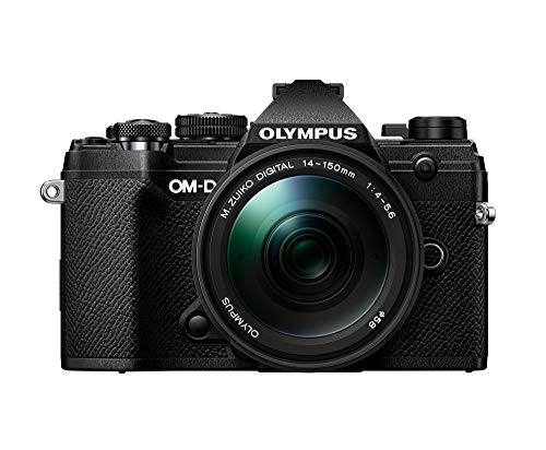 Olympus OM-D E-M5 Mark III CSC - Cámara de 20 MP (4K, estabilización de imagen en 5 ejes, AF por Detección de Fase) - pack con objetivo 14-15 mm EZ, color negro
