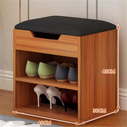 Belleashy Zapatero multiusos para almacenamiento de zapatos, para sala de estar, sala de estar, balcón, tamaño único, color: marrón