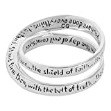 Ephesians 6:13 Silver Plated Women's Double Mobius Ring Size 9