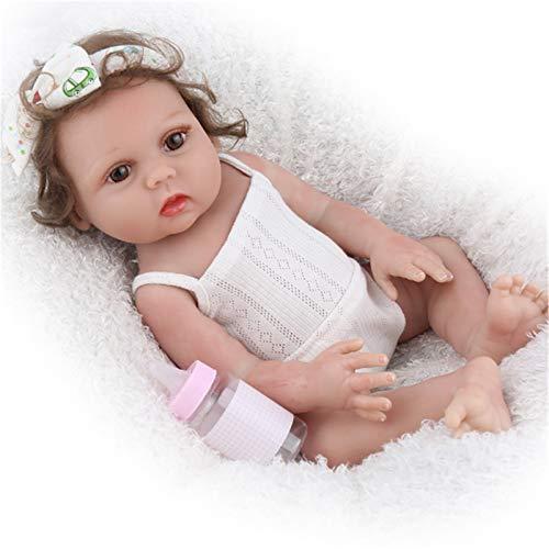 SHHYD Reborn Baby 18 Pulgadas Juguetes Realistas De Vinilo Completo para Niños Falso Baño Educativo para Niños Playmate Babe Boneca