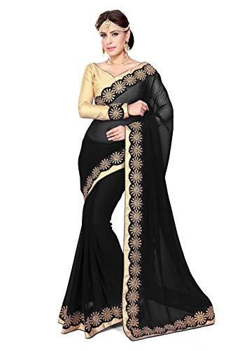 Mirchi Fashion Bollywood Indian Sari Kleid mit Ungesteckt Oberteil/Top Damen Sarees