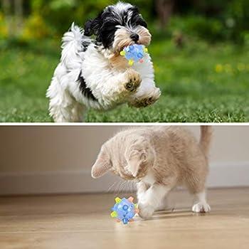 Colmanda Balle Sauteuse à LED, Animaux Chats Balles Sauteuse à LED Boule de Saut Clignotant pour Chiens et Chats Animal Domestique (Bleu)