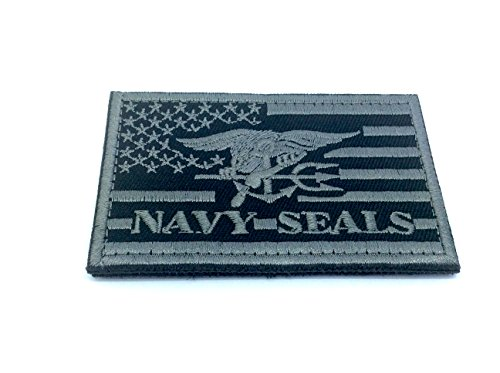 US Navy Seal Special Ops Adler bestickt Airsoft Paintball Patch (schwarz)