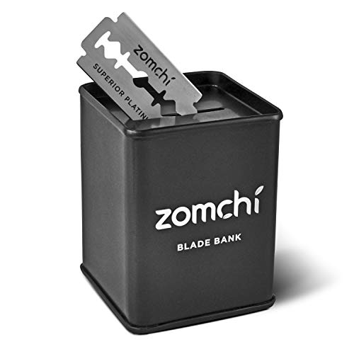 Zomchi Blade Bank | Banque de lame | Boîte pour le Stockage de Lame Utilisée du Rasoir de Sécurité à Double Tranche Plus Sûr et commode