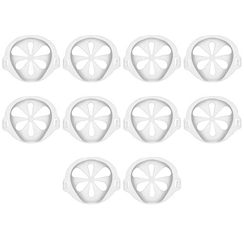 Milisten 10pcs 3D Face Cover Bracket Face Covering Inner Support Frame Nose Lipstick Protection Face Cover Strap Extender More Space for Comfortable Breathing Adult