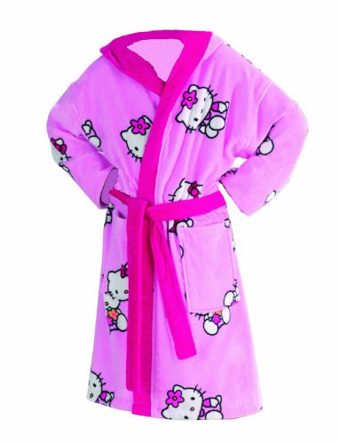 Global Labels G 50 200 HK7 115KA Hello Kitty Kinderbademantel mit Kapuze Größe: 128