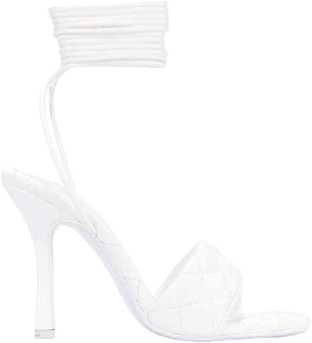 Cape Robbin Open toe lace up heels Sandals for women