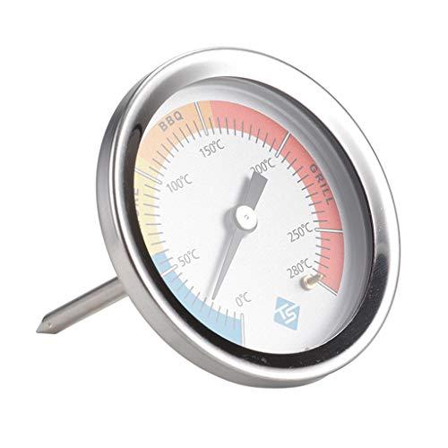 Qiman 0 – 280 ℃ Termómetro de cocina de acero inoxidable, para barbacoa, ahumador, horno, indicador de temperatura, utensilios de cocina