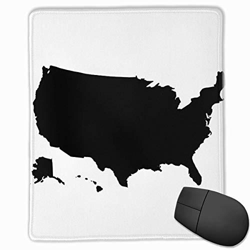 Estados Unidos Mapa Rectángulo Alfombrilla de Goma Antideslizante Accesorios para computadora 18 x 22 CM