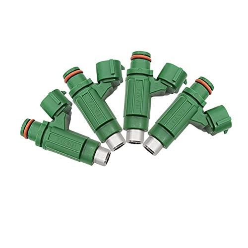 reservdelar till gräsmaskiner 4PCs Bilbränsleinjektor för Mitsubishi Lancer Outlander 2.4L 2004 Artikelnummer: HDA305E MR988406 (Color : Green)