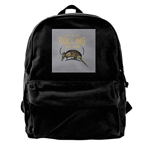 Armadillo They See Me Rollin Rusa Gym Hiking Laptop Shoulder Bag Daypa for Men Women