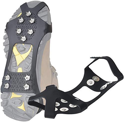LimitlessXme Anti Rutsch auf Schnee und Glatteis. Spikes aus Metall. Sturz vermeiden mit Schuhkrallen für Jede Schuhgrösse.