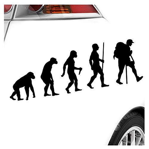 Kiwistar Wandern Trekking Evolution Aufkleber Sticker 25 Farben Neon Matt