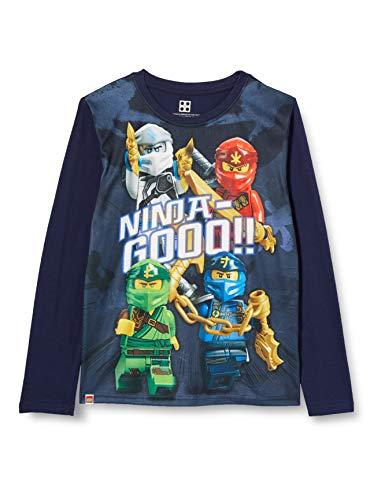 LEGO Jungen MWh-Langarmshirt Ninjago T-Shirt, 590 Dark Navy, 128