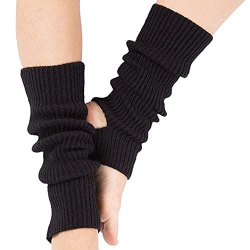 Calcetines de yoga para calentar las piernas de invierno, calcetines de punto cálidos para las piernas, calcetines de ganchillo hasta la rodilla, calcetines altos para la pierna, prevención del frío