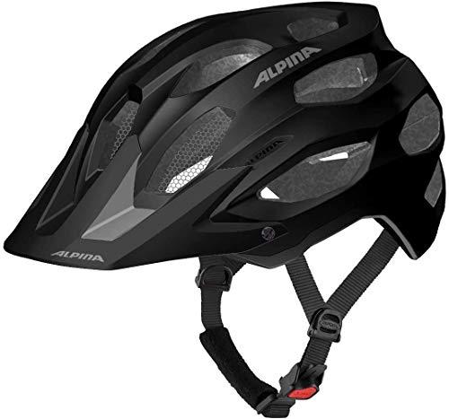 ALPINA CARAPAX 2.0 Fahrradhelm, Unisex– Erwachsene, black matt, 52-57
