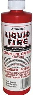 Amazing Liquid Fire Pipe & Drain Opener Hair Clog Remover 16 oz.