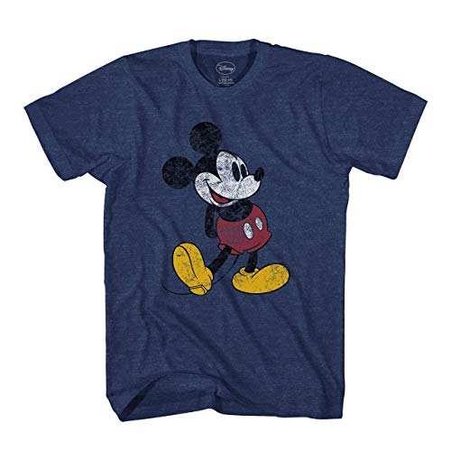 Disney Mickey Mouse Classic Distressed Standing, Indigo Black, Size Large