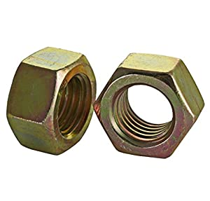 Steel Hex Nut Zinc Plated Finish 1-1//2 Width Across Flats 1-14 Thread Size 1-1//2 Width Across Flats 55//64 Thick 1-14 Thread Size 55//64 Thick Pack of 10 Small Parts FSCF1HNG5Z Grade 5 Pack of 10 ASME B18.2.2