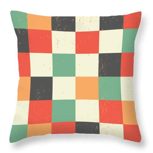 Lplpol Pixel Art Square Throw Pillow Covers Cotton Linen Square Decorative Throw Cushion Cover 20 x 20