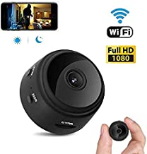 $35 » OVEHEL Mini WiFi Spy Camera HD 1080P Wireless Hidden Camera Video Camera Small Nanny Cam with Night Vision and Motion Activated Indoor Use Security Cameras Surveillance Cam for Car Home Office