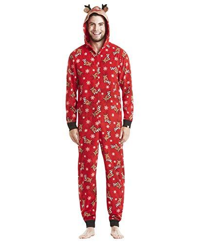 Pijamas Familiares Navideñas Pijama Navidad Familia Mono Navideños Mujer Niños Niña Hombre Pijama Reno Entero Una Pieza Trajes Para Navidad Pijamas a Juego Manga Larga Chicas Chico Homewear Invierno L