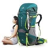登山リュック・ザック、ダブル防水 ハイキング 登山バッグ、 容量70L、拡張可能な容量、 ハイキング、ハイキング、旅行、キャンプなどに適しています。