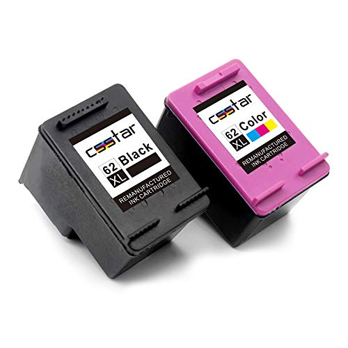 CSSTAR Rigenerate Cartucce d'inchiostro Compatibili per HP 62 XL 62XL per ENVY 5540 5544 5640 5542 7640 5546 OfficeJet 250 5740 5742 200 Stampante, Nero e Colore