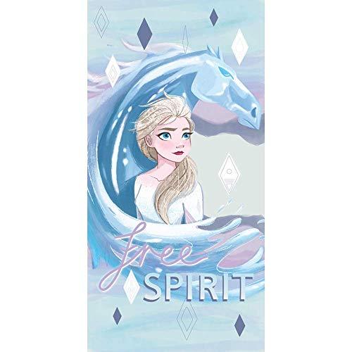 GLOBAL LICENCE SRL Telo Mare Frozen II Disney Elsa in MICROCOTONE CM. 140X70 100%PL - FRO1479