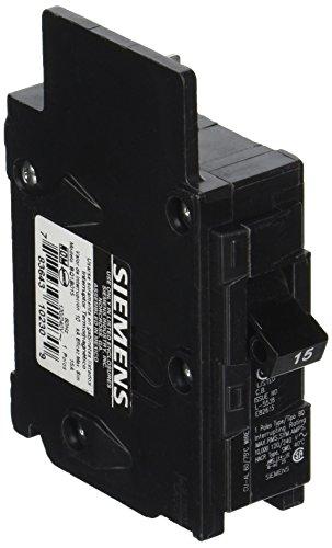Siemens BQ1B015 15-Amp Single Pole 120-Volt10KAIC Lug Out Breaker, COLOR