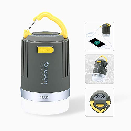 Modern-Depo 2-in-1 LED Camping Lantern Phone Charger Portable Collapsible Rechargeable Flashlight for Outdoor Camping Hiking Traveling Exercising, 200 Lumens Waterproof