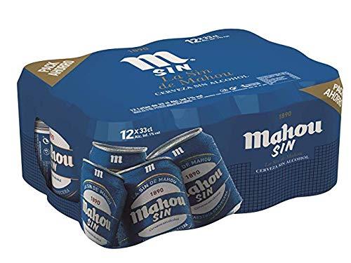 Mahou Cerveza sin Alcohol Dorada Lager, 12 x 33cl