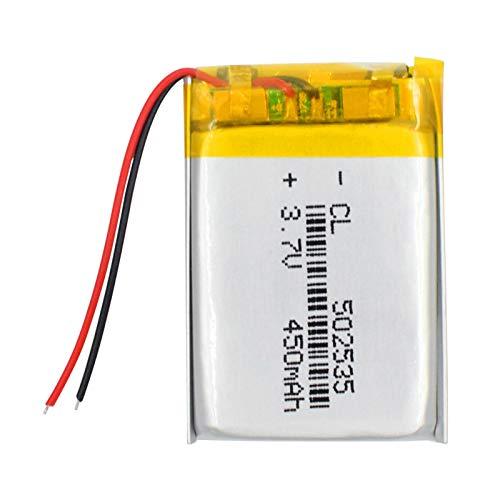 MGLQSB Batería De PolíMero De Litio De 3.7v 450mah 502535, Celdas De Lipo Recargables De Iones De Litio Li-Po para Altavoz Bluetooth De TacóGrafo De Reflector 502535450mAh1pcs