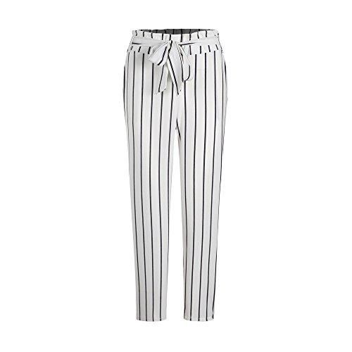 VECDY Damen Hosen Yogahosen Frauen Gestreifte Lange Jeans Krawatte Hohe Taille Damen Hosen Hose Stretchhose Tanzhosen Jogginghose Sporthosen