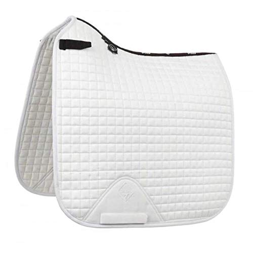 LeMieux ProSport Suede Square, Dressage Saddle Pad Unisex Adult, White, Large