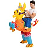 Spooktacular Creations Inflatable Halloween Costume Ride A Pinata Llama Ride On Inflatable Costume - Adult Unisex One Size