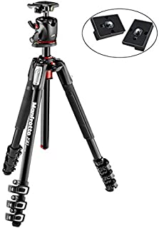 Manfrotto MK190XPRO4-BHQ2 Aluminum Tripod with XPRO Ball Head and 200PL QR Plate Includes Two ZAYKiR Quick Release Plates