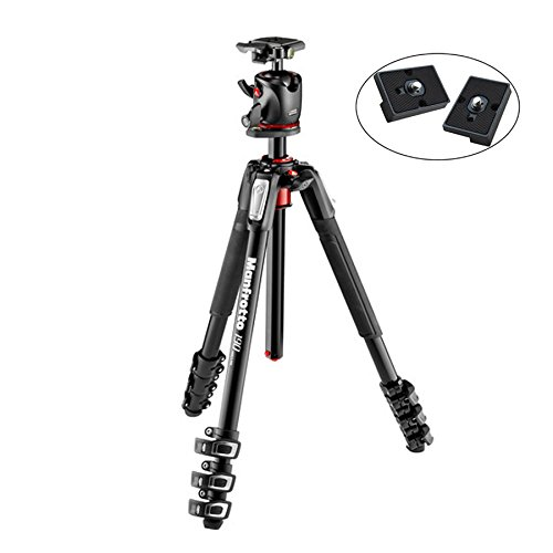 Manfrotto MK190XPRO4-BHQ2 Aluminum Tripod with XPRO Ball Head and 200PL QR Plate Includes Two ZAYKiR Quick Release Plates -  Manfroto, 4351834210