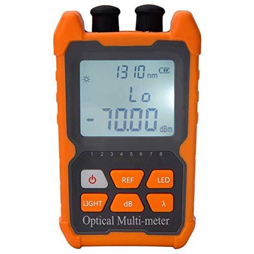 Noblik Probador de Cable de Fibra óPtica Medidor de Potencia óPtica PortáTil FC/SC/ST Interfaz Universal Probador de Fibra Localizador de Fallas Incorporado de 1 MW (OPM y VFL)